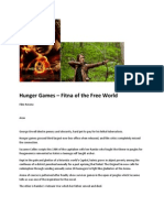 Hunger Games (Film Review) the Fitna of the Free Markets Aron