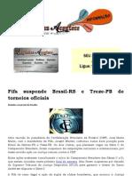 Fifa Suspende Brasil-RS e Treze-PB de Torneios Oficiais