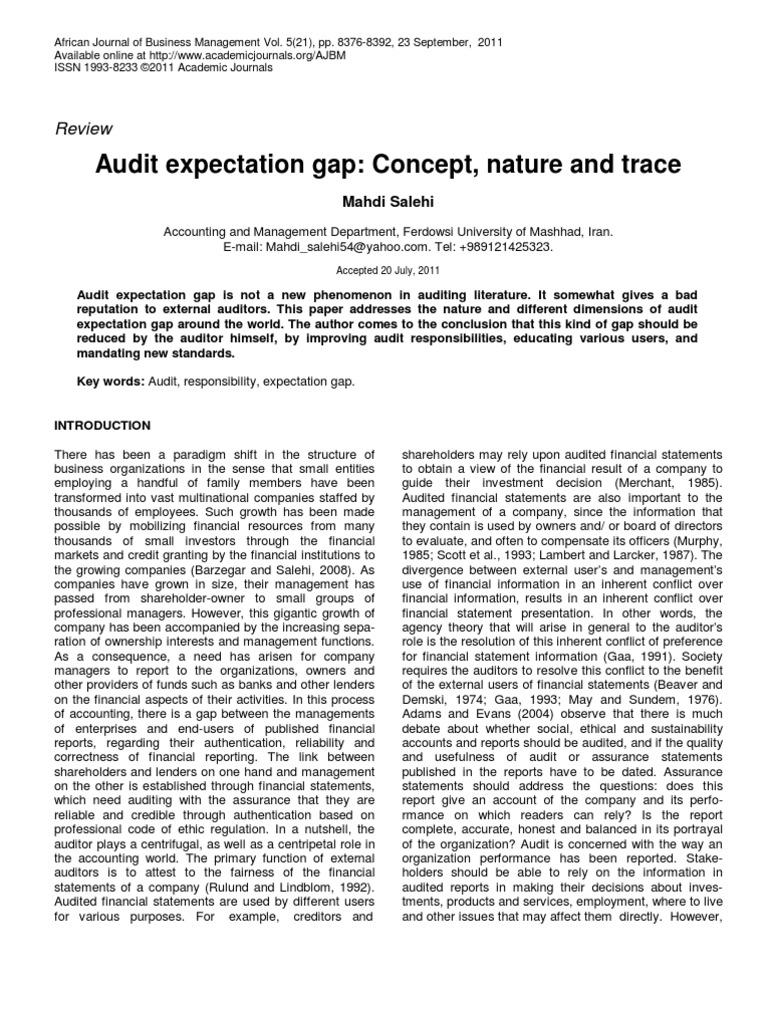 audit expectation gap