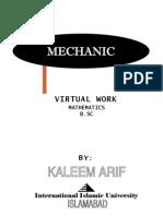 Mechanics Virtual Work Kaleem Arif