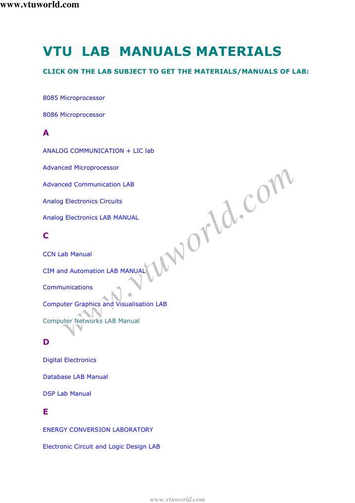vtu lab manuals materials rh scribd com advanced communication lab manual for 6th sem ece advanced communication lab manual for 6th sem ece vtu
