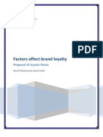 Factors Affect Brand Name Loyalty