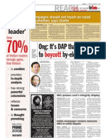 TheSun 2008-12-26 Page02 Ong Its DAP That Needs to Boycott by-election