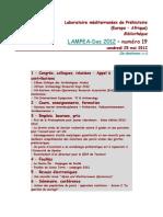 LAMPEA-Doc 2012 - numéro 19 / vendredi 25 mai 2012
