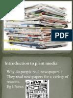 Print Media Ppt