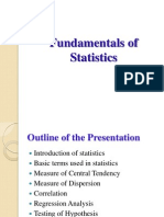 Fundamental of Statistics