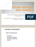 Optimizing Asphalt Mix Designs