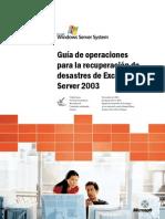 Guía de operaciones para la recuperación de desastres de Exchange Server 2003