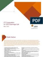 ITT Corporation Q1 2012 Earnings