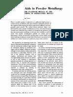 Sintering Aids in Powder Metallurgy