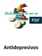Medicamentos de uso en Psiquiatría