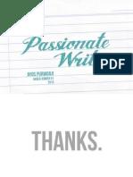 Passionate Writing