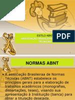 Normas APA ABNT Sandra Nunes