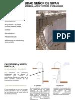 Calzadura y Muro Pantalla