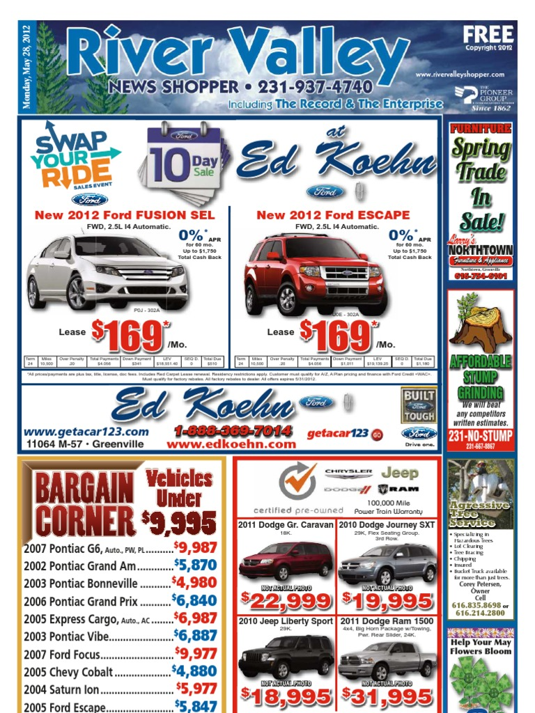 River Valley News Shopper May 28 2012 Pickup Truck Pontiac 2002 Jeep Liberty 37 Have You Got A Timing Diagram For The Engine