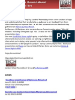 London Silicon Roundabout Weekly Newsletter 25 May 2012