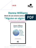 Dossier Alguien en Algn Lugar de Donna Williams (NEED EDICIONES