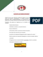 Garantie 100-  Inf  Générales ALGERIE V1.2