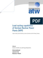 Load cycling capabilities of German Nuclear Power Plants (NPP)