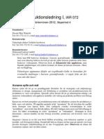 Kurs-PM Produktionsledning IAR072 2012 Lp4