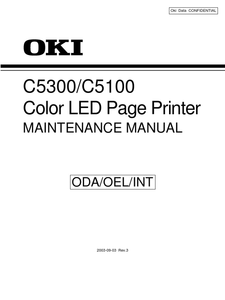 C5100, C5300 Service Manual | Printer (Com) | Electrical Connector on
