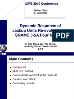 Dynamic Behavior of Jack-up ISOPE10