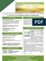 Le bulletin d'annonces N°16 semaine du 26 mai au 2 juin 2012