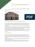 Educación argentina Avances y retrocesos en la formación del sistema educativo argentino