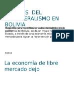 Efectos Del Neoliberalismo en Bolivia