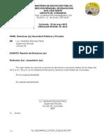 79- 2012 Convocatoria Reunión de directores secundaria pùblica y privada