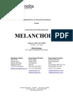 Melancholia Final Notes