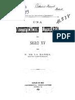 Una mistificación literaria del siglo XV. (1897)