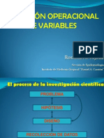 Definicion Operacional de Variables