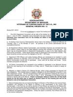 June General Orders - 2012