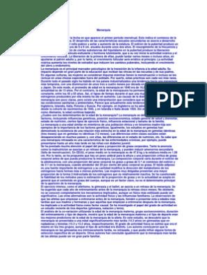 Que es menarquia pdf
