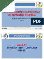 Aula 01 - Divisão Territorial do Brasil