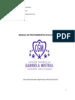 Microsoft Word - Manual de Procedimientos Evaluativos 2012 Colegio Part Gabriela Mistral Soc Educ