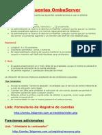 Registro Cuentas OmbuServer