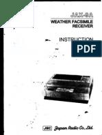 Weather Facsimile Receiver Jrc Jax-9a- Instruction Manual