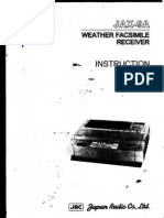 Weather Facsimile Receiver Jrc Jax-9a- Instruction Manual