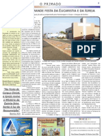 Jornal O PRIMADO 3° Edição(páginas de 8 a 12)