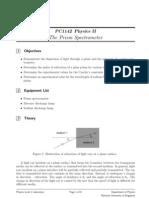 Prism Spectrometer