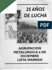 Agrupación 6 de Diciembre lista Marrón