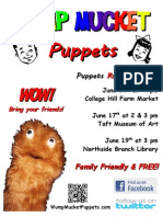 Wump Mucket Puppets June 2012 Poster