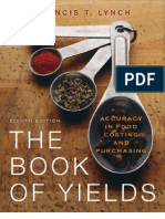 The Book of Yields Accuracy in Food Costing and Purchasing