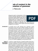 Context in the Presentation of Grammar