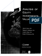 Analysis of Equity Investments Valuation