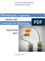 Strategies for Argument Refutation