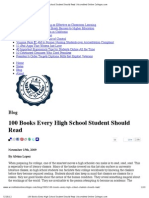 100 Books Every High School Student Should Read _ Accredited Online Colleges