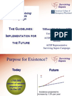 Sepsis Power Point Slide Presentation - The Guidelines_ Implementation for the Future